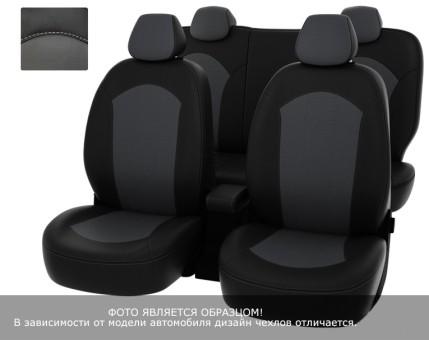 """Чехлы  BMW 3 Е-90 2005-2012 спл. чер-сер экокожа """"Оригинал"""""""