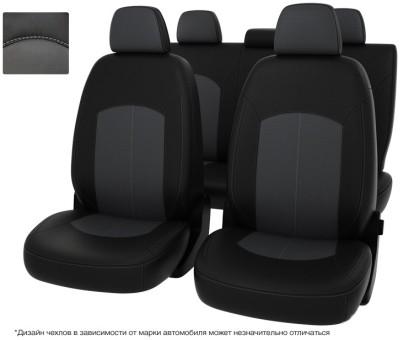 """Чехлы  VW Passat B7 S Comfortline чер-сер экокожа """"Оригинал"""""""""""