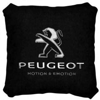 Подушка замшевая Peugeot (А18 - черная)