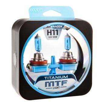 Лампы MTF Titanium H11 (12 V, 55 W, 2 шт)