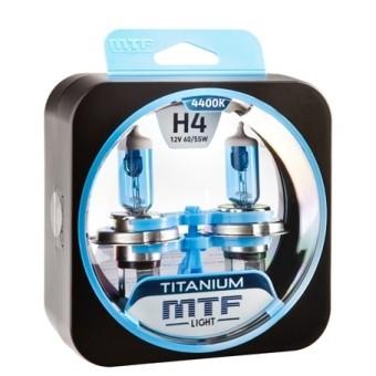 Лампы MTF Titanium H4 (12v, 60/55w, HTN1204, 2шт.)