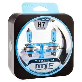 Лампы MTF Titanium H7 (12v, 55w, HTN1207, 2шт.)