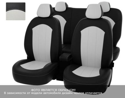 """Чехлы  Peugeot 301 Active/Allure 13-> чер-бел экокожа  """"Оригинал"""""""