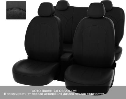 """Чехлы  Mazda CX-5 2015-> Рестайлинг 40:20:40 зад.сид черная экокожа + черная алькантара """"Оригинал"""""""