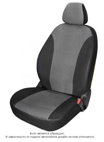 Чехлы  Chevrolet Aveo 12-> жаккард серый БРК