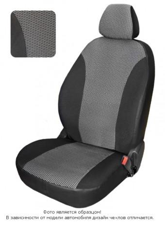 Чехлы  Chevrolet Lanos диван спл., спинка 1/3, горб, серый жаккард БРК
