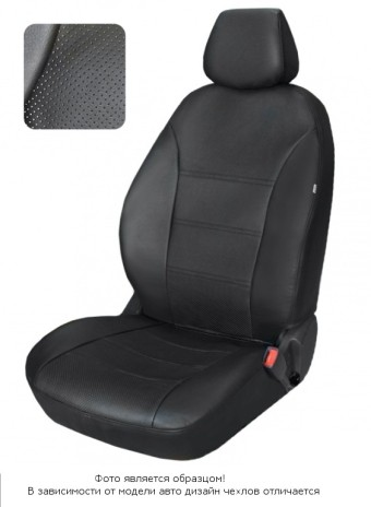 Чехлы  Chevrolet Lanos диван спл., спинка 1/3, горб, черный аригон БРК