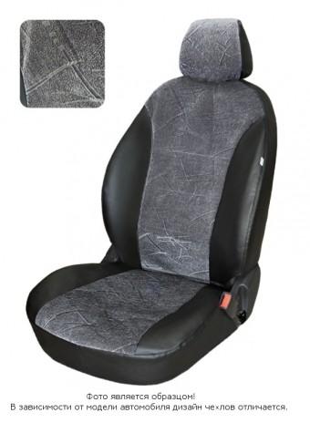 Чехлы  Ford Fusion т.серый флок БРК