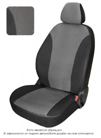 Чехлы  Hyundai Getz 02-> диван и спинка 1/3, т.серый жаккард БРК