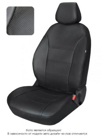 Чехлы  Nissan Almera lV 12-> дел. черный аригон БРК