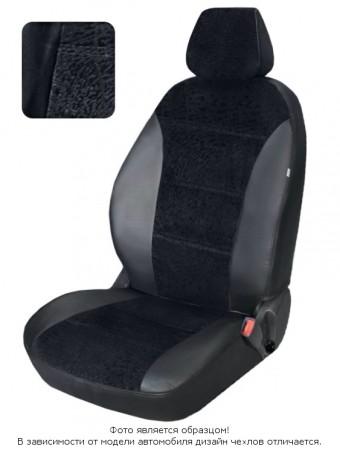 Чехлы  Nissan Tiida 04-> S черный флок БРК