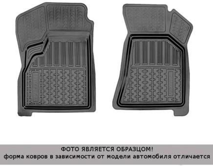 Коврики Kia Rio 2011-> 2 передних, Promo резин. с борт. чер Avtodriver   ADRPRO003-2
