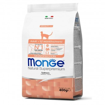 Сухой корм для кошек Monge Speciality Line - Adult Salmon (400 г)