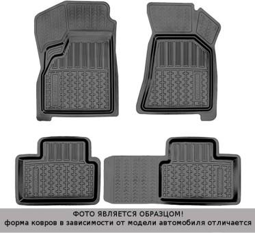 Коврики Газель Next 2013-> второй ряд, резин. с борт. чер Avtodriver