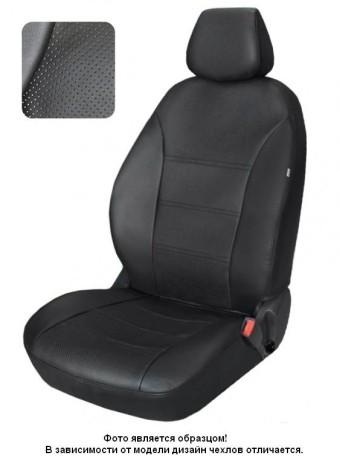 Чехлы  Toyota Corolla 07-> черный аригон БРК