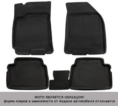 Коврики Renault Sandero 2009-2014 г. - резина с борт. чер АТОЛЛ