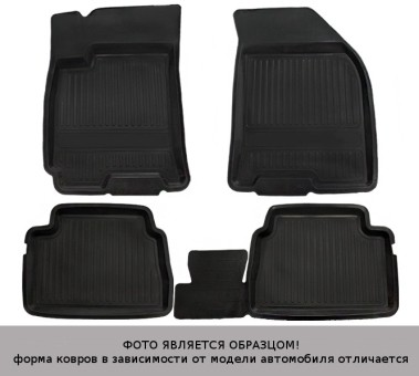 Коврики Skoda Octavia II 2004-2013 г. - (A5) резина с борт. чер АТОЛЛ