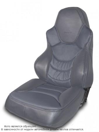 Чехлы  ВАЗ 2110 / Лада Приора S к/з полностью серый Динас