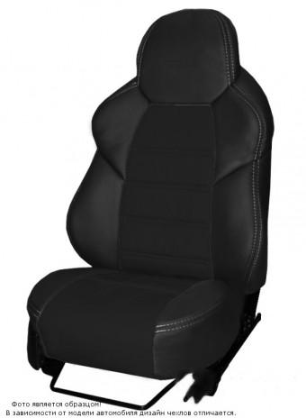 Чехлы  ВАЗ 2110 / Лада Приора S черный к/з + черный жаккард Динас