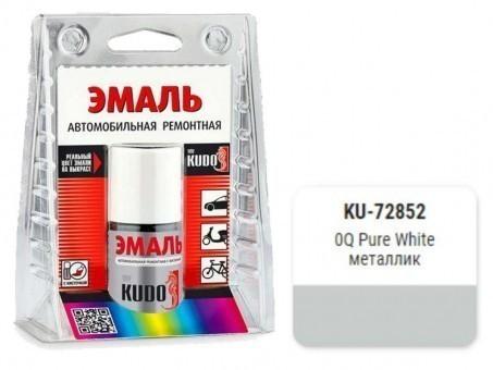 Краска-кисточка KUDO KU-72852 (VW, Pure White, металлик)