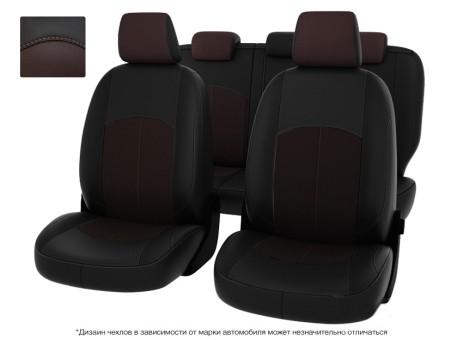 "Чехлы  Mazda 3 13-> S чер-корич экокожа "" Оригинал"""