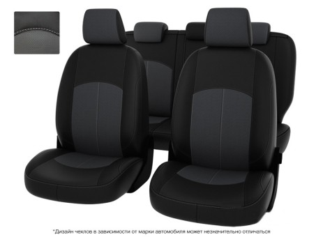 """Чехлы  Mazda 3 13-> S чер-сер экокожа """" Оригинал"""""""