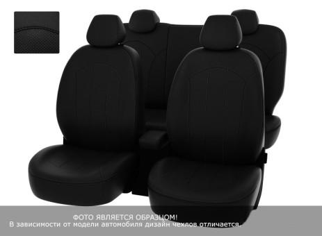 """Чехлы  Mazda CX-5 2011-2015 40:20:40 зад.сид черная экокожа + черный нубук """"Оригинал"""""""