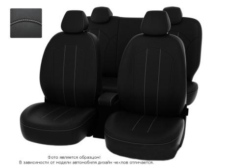 """Чехлы  Mazda CX-5 2011-2015 40:20:40 зад.сид черный/отстрочка белая, экокожа """"Оригинал"""""""