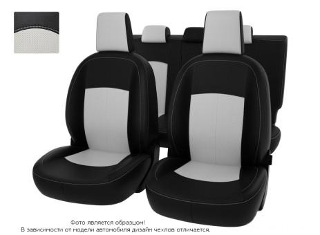 "Чехлы  Opel Astra J 10-> чер-бел экокожа ""Оригинал"""