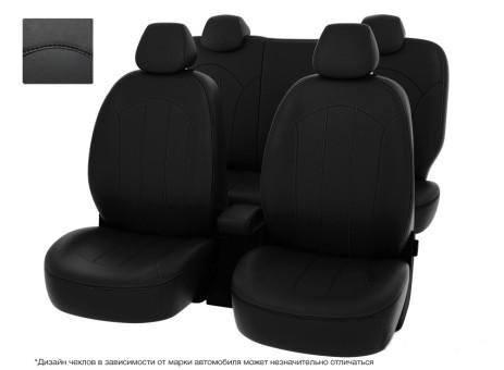 """Чехлы  Toyota Rav4 13-> черный/отстрочка черная, экокожа """"Оригинал"""""""
