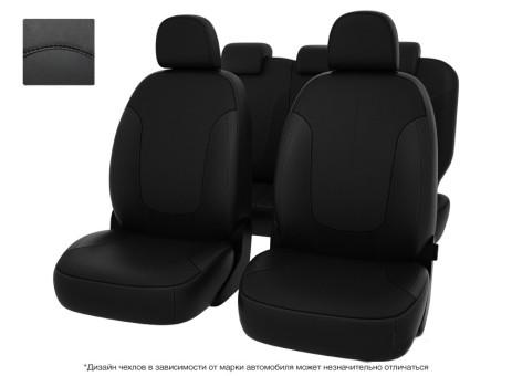 """Чехлы  VW Passat B7 S Comfortline черный/отстрочка черная, экокожа """"Оригинал"""""""""""