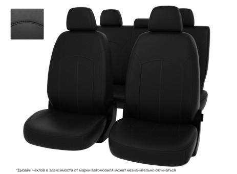 """Чехлы  VW Passat B7 S Trendline черный/отстрочка черная, экокожа """"Оригинал"""""""""""