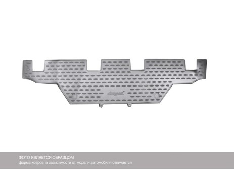 Коврики Hyundai H1 New  1шт, 3ряд  07->  борт.чер НЛ