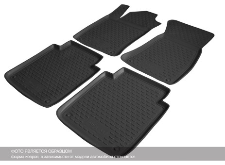Коврики Mercedes-Benz GLK-Classe 2012-> (X204) 3D черный (полиуретан) НЛ   NLC.3D.34.44.210k