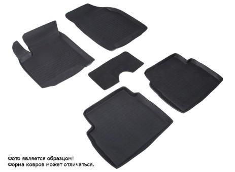 Коврики Chevrolet Aveo 2006-2012 г. - резиновый с выс. борт. (Seintex)