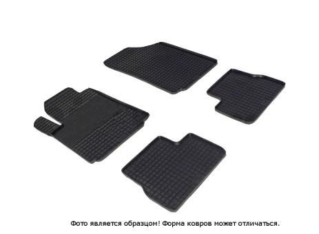 """Коврики Citroen C3 2010-> резиновый """"Сетка"""" (к-т) (Seintex)"""