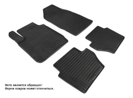 """Коврики Ford Fiesta 2008-2012 г. - резиновый """"Сетка"""" (к-т) (Seintex)   00861"""