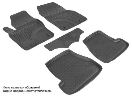 Коврики Ford Focus III 2011-2016 г. - резиновый c выс. борт. (Seintex)