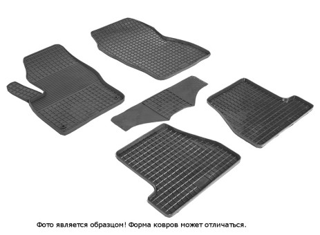 """Коврики Ford Focus III 2011-> резиновый """"Сетка"""" (к-т) (Seintex)"""