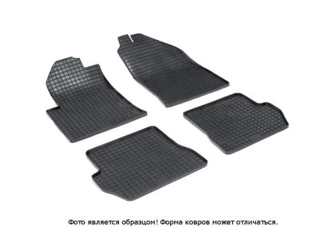 """Коврики Ford Fusion 2002-2012 г. - резиновый """"Сетка"""" (к-т) (Seintex)   00140"""