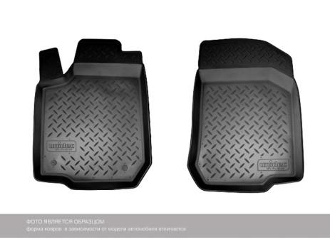 Коврики VW Caddy 2004-2015 г./2015-> (передние) борт. чер АВС   NPL-Po-95-01