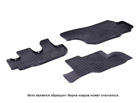 """Коврики Hyundai HD 65/72/78 - резиновый """"Сетка"""" (к-т) (Seintex)"""