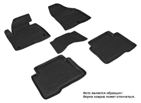 Коврики Hyundai Santa Fe III 2012-> резиновый с выс. борт. (Seintex)   83487