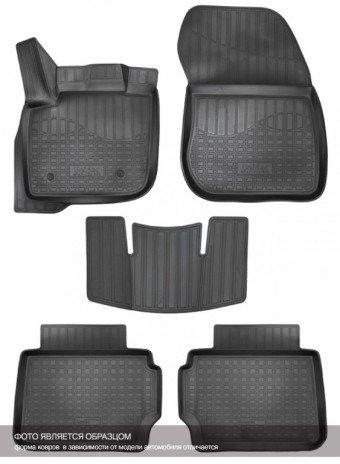 Коврики Audi Q7 2015-> 3D борт. черный (полиуретан) АВС   NPA11-C05-774