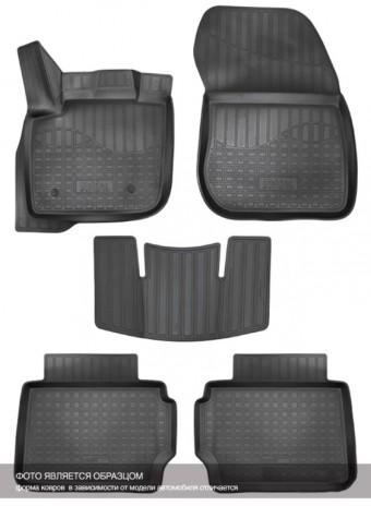 Коврики Ford EcoSport 2014-> 3D черный АВС