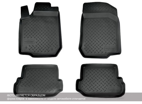 Коврики Ford Mondeo IV 2007-2015 г. - борт. чер АВС