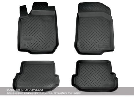 Коврики Lada Xray 2015-> без ящиков под сиденьями, борт. чер АВС