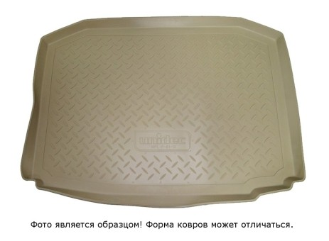 Коврик багажника Infiniti JX (QX60) 2012-> (разложенный 3 ряд) борт. беж АВС