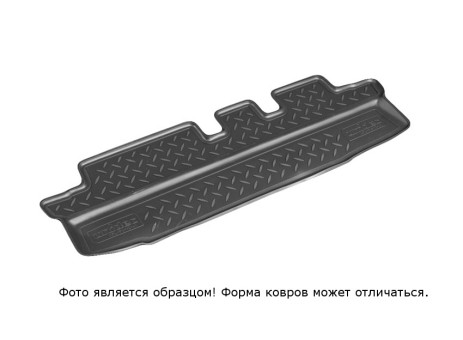 Коврик багажника Infiniti JX (QX60) 2012-> (сложенный 3 ряд) борт. чер АВС