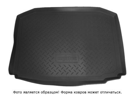 Коврик багажника Hyundai Solaris 2010-> Sd (сплошн. спинка), борт. чер АВС   NPL-P-31-35